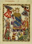 Blatt aus der Manessischen Liederhandschrift, vorhanden im Kloster Marienstern