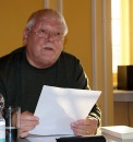 """Jaroslav Rudiš Roman """"Garndhotel"""" wurde im Jahr 2015 von Dr. Wolfgang Wessig beim Hoyerserwerdaer Kunstverein gelesen."""