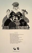 Illustration von Werner Klemke zu einem Gedicht von Lessing: Faustin