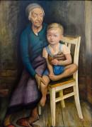 Horst Schlossar: Sorbische Mutter mit Enkel