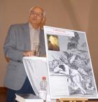 Dieter Fratzke, Kamenz, währen eines Vortrages über den Aufklärungsgedanken bei Lessing. 2019