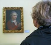 """Jugendbildnis von Lessing, heute im Museum """"Lessinghaus"""" in Wolfenbüttel , das Lessing im Winter 1777 mit seiner schwangeren Frau Eva bezogen hatte, die wenige Zeit später starb."""