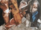 Thema des Ahasver auch in der Bildenden Kunst. Lasar Segall (Mitglied der Dresdner Sezession): Die ewigen Wanderer 1919.