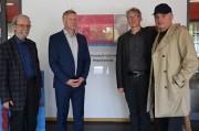v.r. Catalin Dorian Florescu, Mirko Schwanitz, Direktor Uwe Blazejczyk, Martin Schmidt.