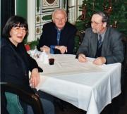 Brigitta Mogge-Stubbe, Heinrich Stubbe und Martin Schmidt im Jahr 2000, v.l.