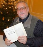 Uwe Jordan zur Lesung beim Hoyerswerdaer Kunstverein im Dezember 2016
