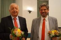 Rudolf Renner und Prof. Dr. Andreas Wien, 2017 beim Hoyerswerdaer Kunstverein. V.l.