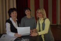 Angela Potowski, Marika Götze, Kathrin Bartholomäus, v.l.