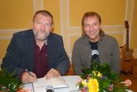 Udo Scheer und Andreas Schirneck v.l. beim Hoyerswerdaer Kunstverein 2014