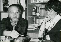 Fred Wander mit seiner Frau Maxie in Hoyerswerda, 1972