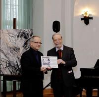 Oberbürgermeister Stefan Skora und Martin Schmidt, Vorsitzender des Kunstvereins Hoyerswerda  v.l.