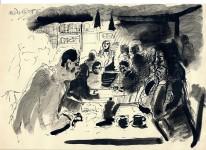 """Harald Metzkes, """"Alex - Café"""" 1986"""