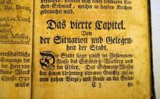 Uwe Jordans Originalexemplar der Fentzel-Chronik, das ehrfürchtig bestaunt und befühlt wurde.