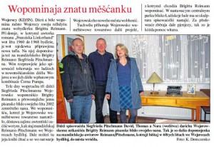 "Originalartikel in der sorbischen Zeitung ""Serbcke Nowiny"""