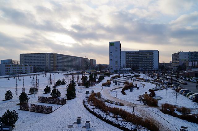 Stadtpark Hoyerswerda am 03. Dezember  2012