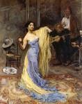 Max Slevogt,  Tänzerin  Marietta di Rigardo, gemalt 1904,  ehemals Sammlung Adolf Rothermund, heute Dresden Albertinum.