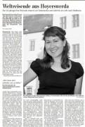 Interview der Lausitzer Rundschau mit Kira Potowski vom 12.Juli 2012