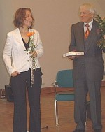 Kira Potowski mit Reiner Kunze
