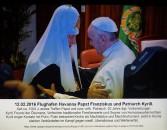 Papst Franziskus und Kyrill, der Patriarch von Moskau, treffen sich 2016 in Havanna. Eine Collage von Erich Busse