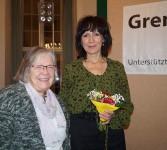Eva Gruberová, rechts, beim Hoyerwerdaer Kunstverein in der Reihe Grenzgänger-Gespräche der Robert-Bosch-Stiftung