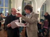 Christian H.P. Kram, rechts, im Gespräch mit Martin Schmidt