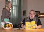 """Uwe Jordan liest aus dem Roman """"Stepan Rasin"""" von Alexei Pawlowitsch Tschapygin beim Hoyerswerdaer Kunstverein"""
