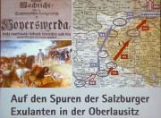 Der Weg der Salzburger Exulanten im Jahr 1732 durch die Oberlausitz, eine Übersicht von Frau Dr. Gabriele Lang