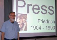 Erich Busse beim Hoyerswerdaer Kunstverein zum Werk von Friedrich Press