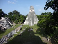 Maya-Tempel in Tikal in Guatemala