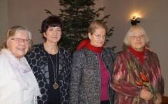 Helene Schmidt, Heidrun Dietrich, Angela Potowski, Barbara Kegel, von rechts.